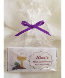 NEW Chalice First Communion Personalized Chocolate Bar