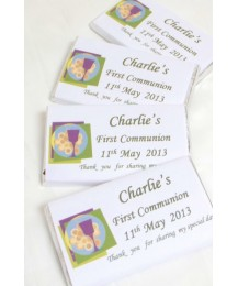 Chalice personalised First Communion chocolate bar