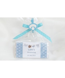 Christening boy personalised chocolate bar