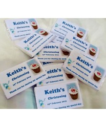 Christening Chocolate bar with photo