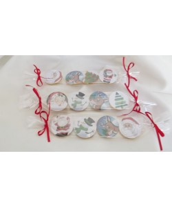 Personalised Christmas chocolate coins set