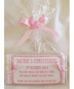 Double Bow Personalized Chocolate Bar (Girl)