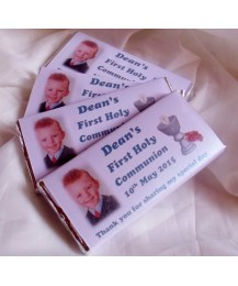 First communion Chocolate bar with Photo (Boy)