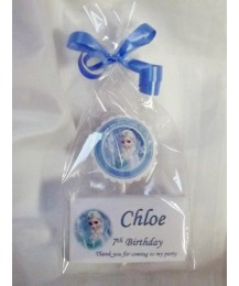 Frozen personalized chocolate and lollipop set
