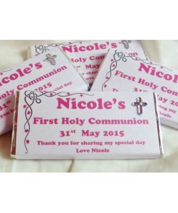 Girl First Communion personalised chocolate bars