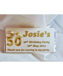 Golden birthday chocolate bar