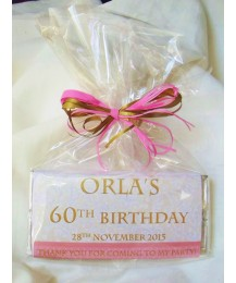 Lace Design Birthday Girl Personalized Chocolate Bar