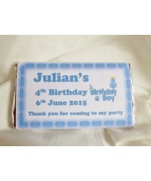 Personalised children chocolate bars