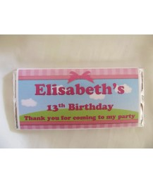 Personalised children chocolate bars/girl