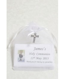 Personalised Communion bar with cross charm