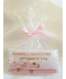 Personalized Chocolate Bar for Christening Girl