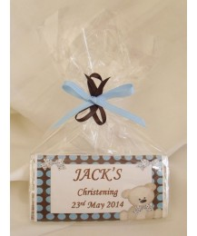 Polka Dots Personalized Chocolate Bar