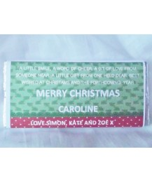 Christmas Personalized Chocolate Bar in Green