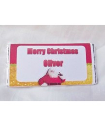 Christmas Personalized Chocolate Bar Santa Image